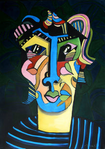 Abstracted portrait by Rolando Duartes