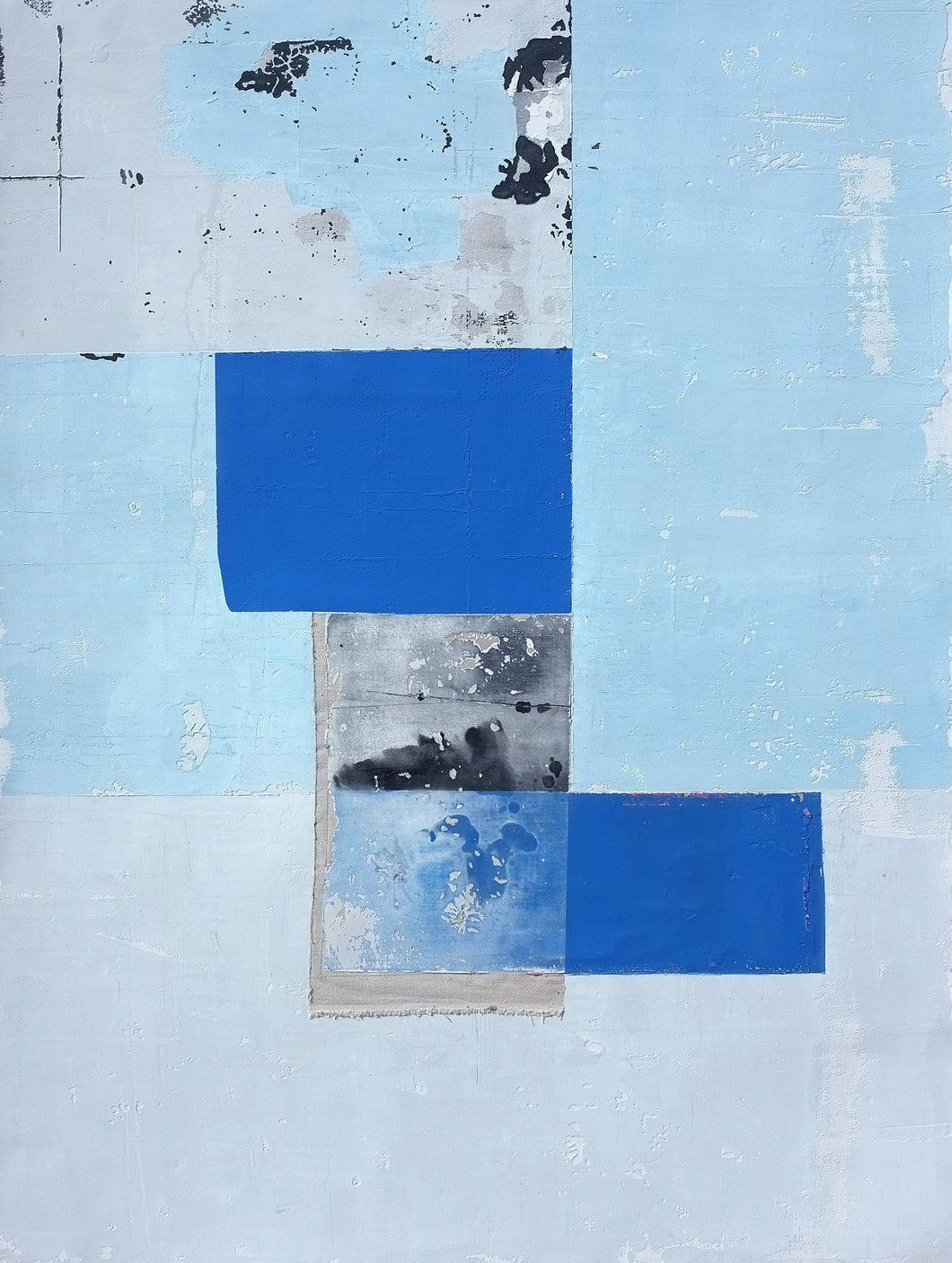Blue Square by Antoine Puisais, Mixed-media at Art Acacia Gallery & Advisory