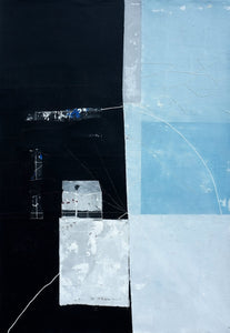 Black and Blue Residue by Antoine Puisais, Mixed-media at Art Acacia Gallery & Advisory