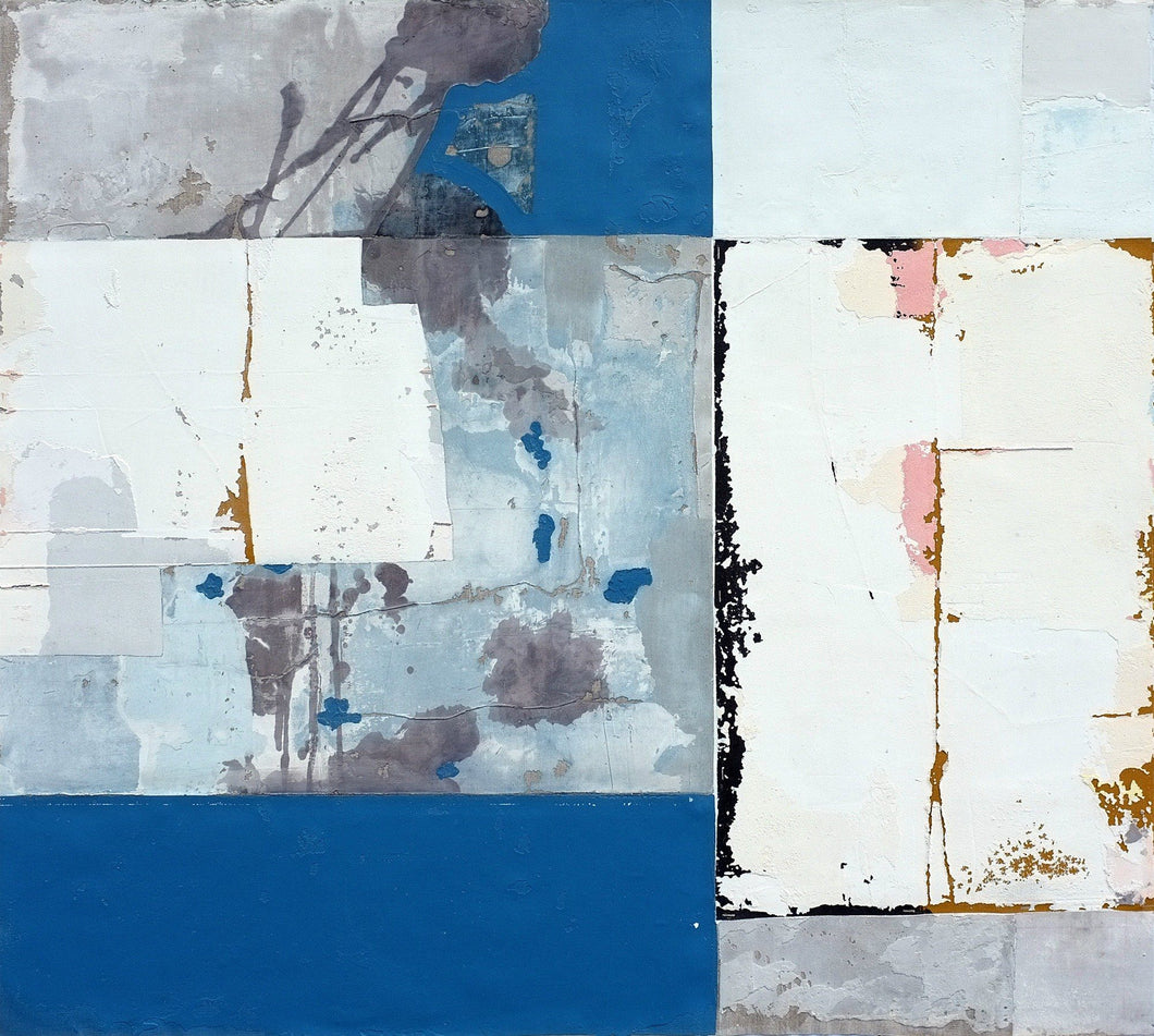 Chrome Blue by Antoine Puisais, Mixed-media at Art Acacia Gallery & Advisory