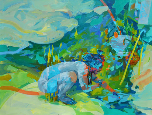 Creating Stories Out of Mud and Water by Melinda Matyas, Painting at Art Acacia Gallery & Advisory