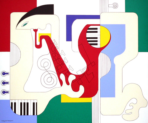 De Saxokopie by Hildegarde Handsaeme, Painting at Art Acacia Gallery & Advisory