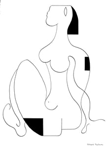 La Femme Determinee by Hildegarde Handsaeme, Drawing at Art Acacia Gallery & Advisory