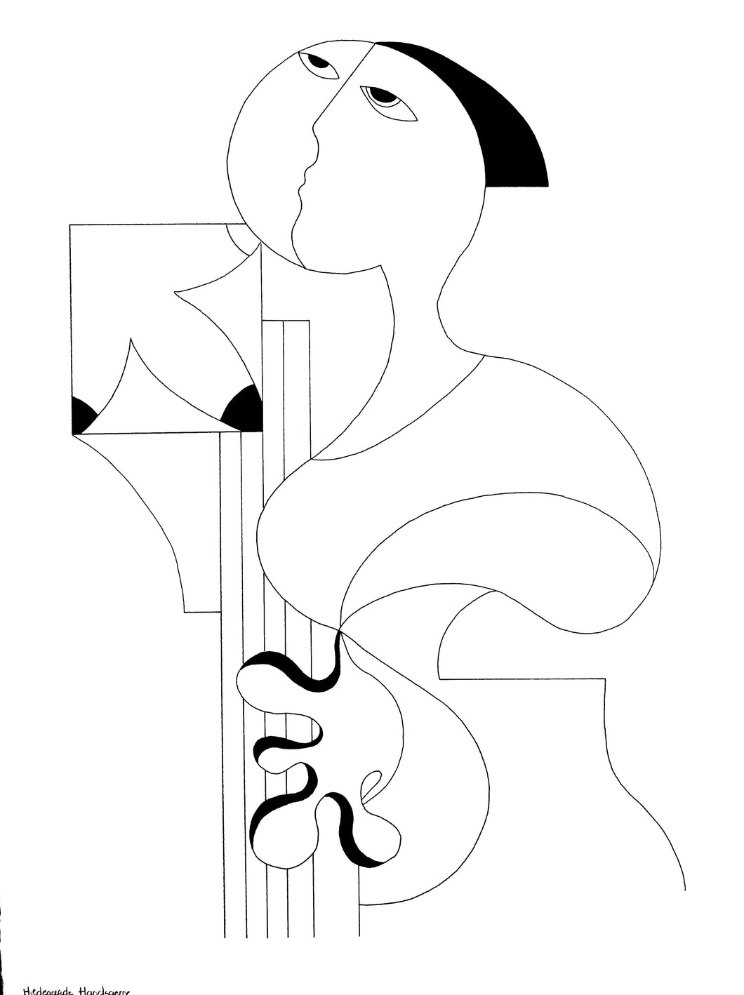 La Femme Musicale by Hildegarde Handsaeme, Drawing at Art Acacia Gallery & Advisory