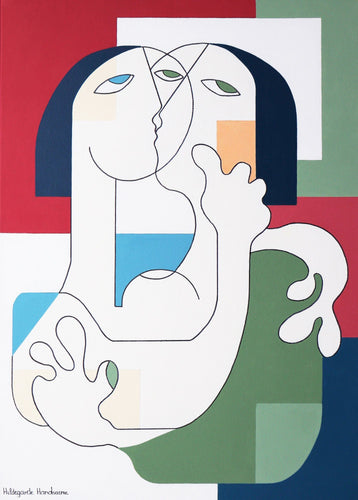 Le Kiss by Hildegarde Handsaeme, Painting at Art Acacia Gallery & Advisory