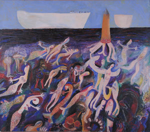 Mermaid Harvest by Szilárd Szilágyi, Painting at Art Acacia Gallery & Advisory