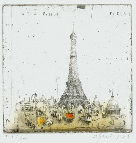 Paris, La Tour Eiffel, 2009 by Alexander Befelein, Print at Art Acacia Gallery & Advisory
