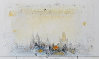 Prague, 2014 by Alexander Befelein, Watercolor at Art Acacia Gallery & Advisory