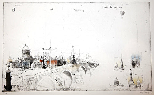 Sankt Petersburg, 1998 by Alexander Befelein, Etching at Art Acacia Gallery & Advisory