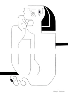 Un Break Masculin Drawing Hildegarde Handsaeme