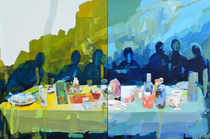 Seven Days Running Over the Fields by Melinda Matyas, Painting at Art Acacia Gallery & Advisory