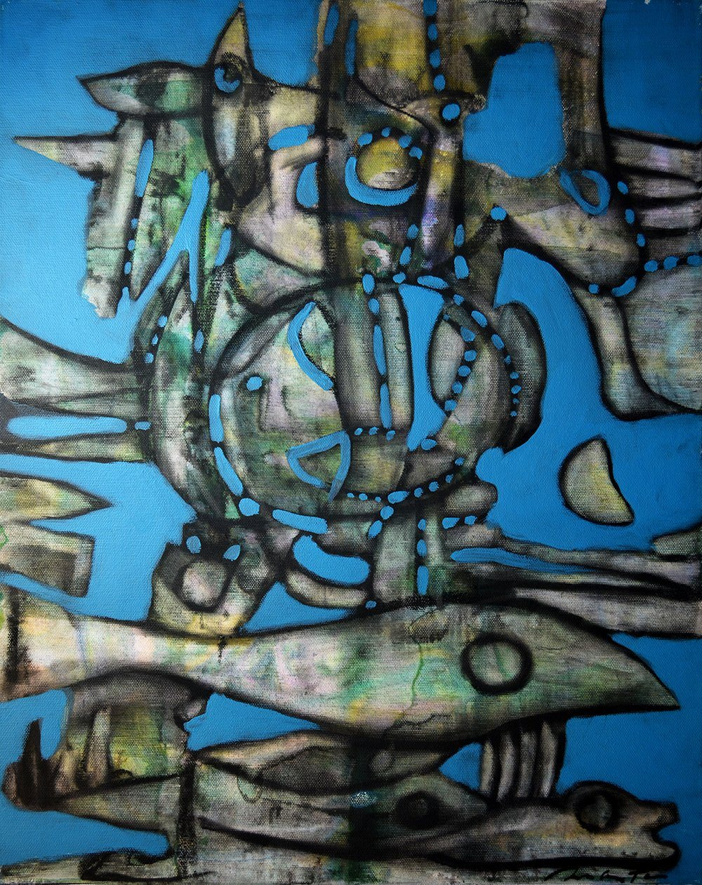 Shipwreck by Rolando Duartes, Acrylic at Art Acacia Gallery & Advisory