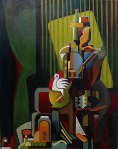 Storyteller by Janet Hagopian, Oil painting at Art Acacia Gallery & Advisory