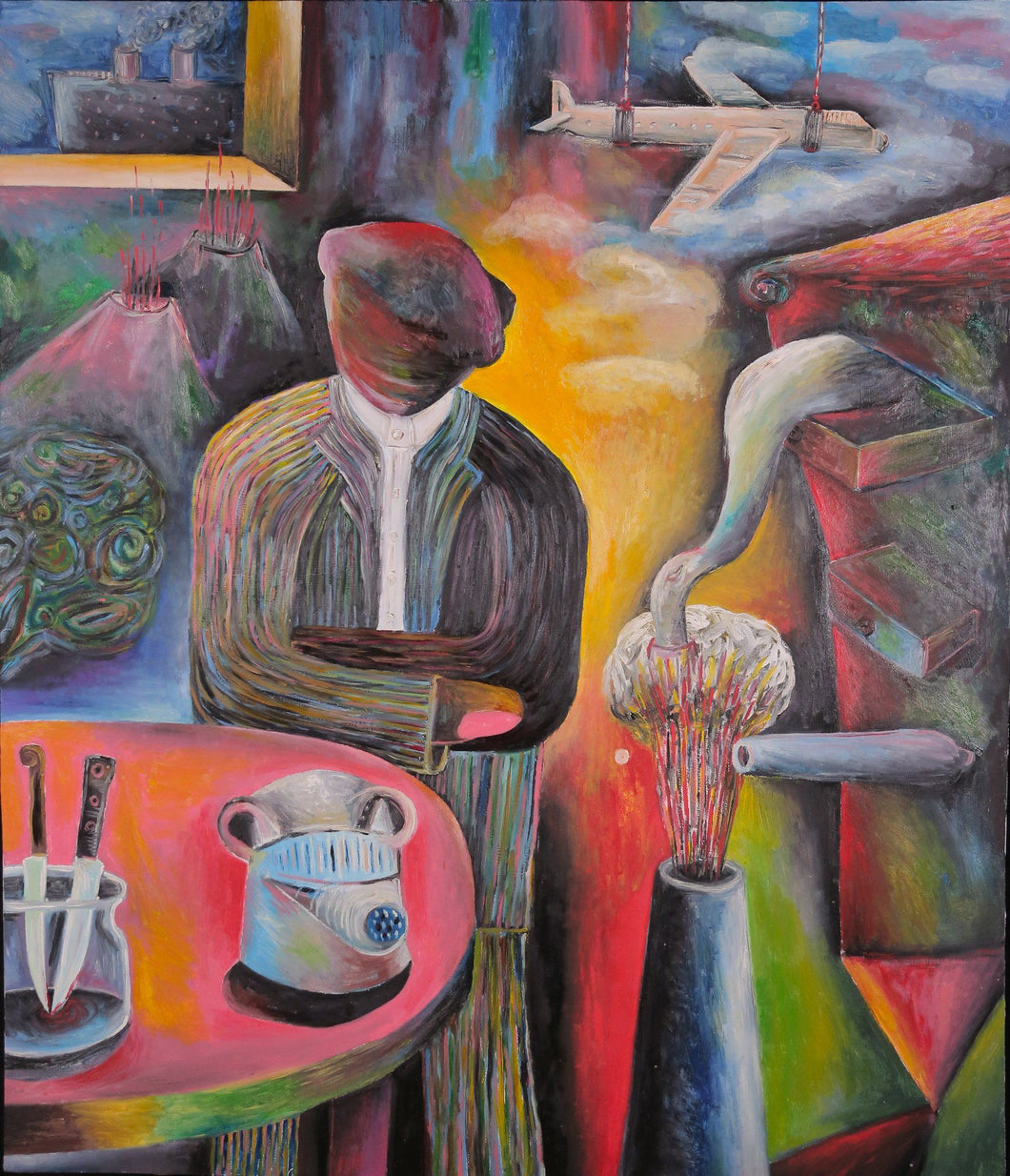 The End of Freedom by Szilárd Szilágyi, Painting at Art Acacia Gallery & Advisory