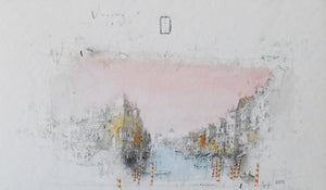 Venice, Canal St. Anna, 2015 by Alexander Befelein, Watercolor at Art Acacia Gallery & Advisory