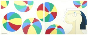 Beach Balls (diptych) by Hildegarde Handsaeme, Painting at Art Acacia Gallery & Advisory