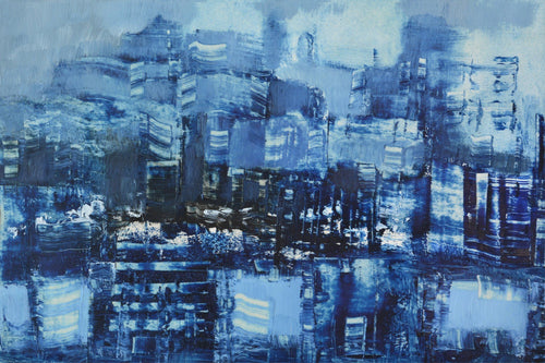 'Unknown City' by Rolando Duartes - Abstract Cityscape, Buildings, Urban