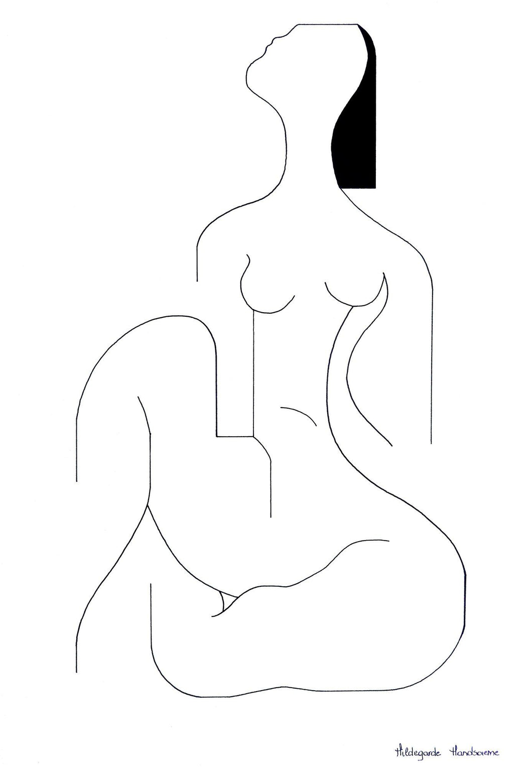 Lamadame by Hildegarde Handsaeme, Drawing at Art Acacia Gallery & Advisory