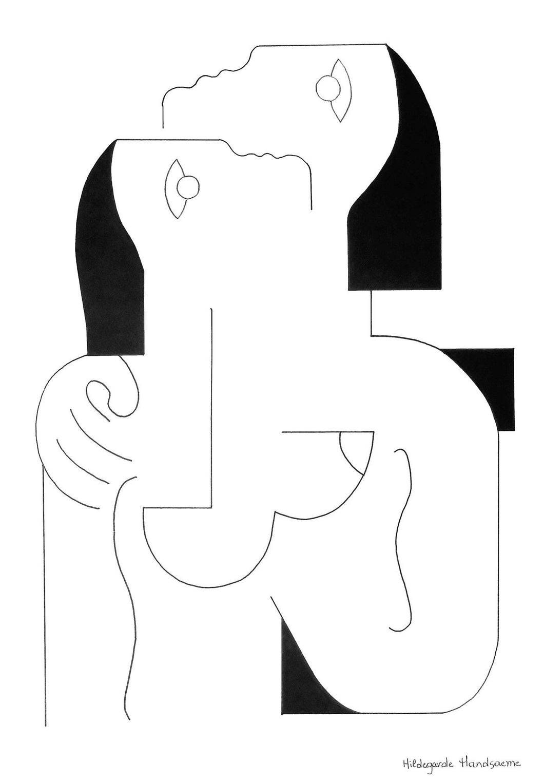 Tendress by Hildegarde Handsaeme, Drawing at Art Acacia Gallery & Advisory