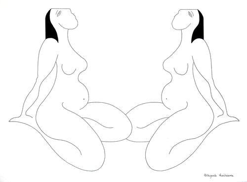 Les Feminines by Hildegarde Handsaeme, Drawing at Art Acacia Gallery & Advisory