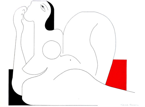 Feminine Concept (Red) by Hildegarde Handsaeme, Drawing at Art Acacia Gallery & Advisory