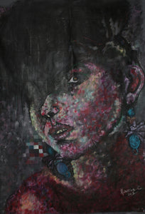 Afro-sisters I by Mwamba Chikwemba, Painting at Art Acacia Gallery & Advisory