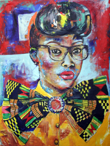 Afro-sisters V by Mwamba Chikwemba, Painting at Art Acacia Gallery & Advisory