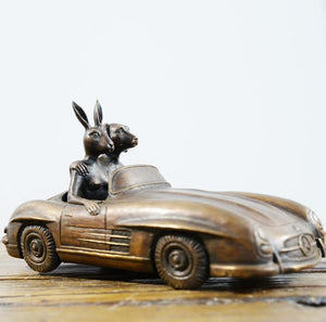 A Merc is Rabbit and Dog's best friend by Gillie & Marc, Sculpture at Art Acacia Gallery & Advisory