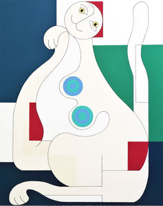 Female Cat by Hildegarde Handsaeme, Painting at Art Acacia Gallery & Advisory