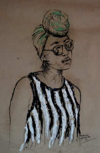 Women's Identity IX by Mwamba Chikwemba, Drawing at Art Acacia Gallery & Advisory