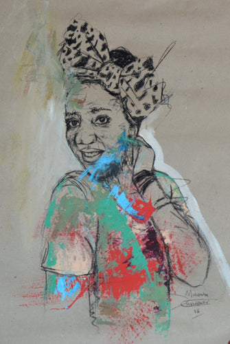 Women's Identity IV by Mwamba Chikwemba - black woman portrait