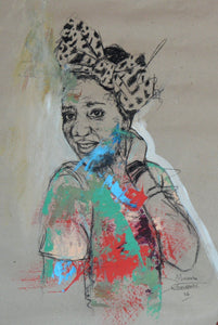 Women's Identity IV by Mwamba Chikwemba, Drawing at Art Acacia Gallery & Advisory