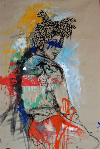 Women's Identity V by Mwamba Chikwemba, Drawing at Art Acacia Gallery & Advisory