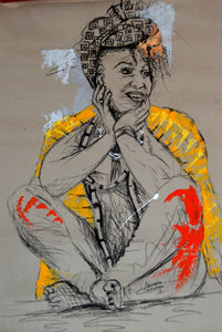Women's Identity VII by Mwamba Chikwemba, Drawing at Art Acacia Gallery & Advisory