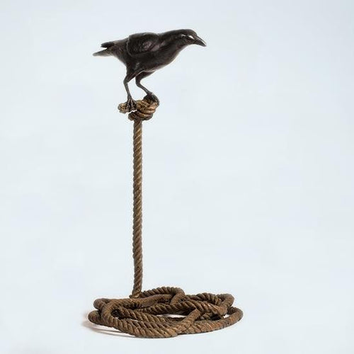 Harold, the Magpie on Short Rope by Gillie & Marc, Sculpture at Art Acacia Gallery & Advisory