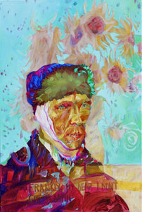 How Does it Feel to be Famous, Mr Van Gogh? by Melinda Matyas, Painting at Art Acacia Gallery & Advisory