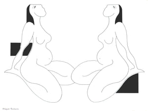 Les Rimes Feminines by Hildegarde Handsaeme, Drawing at Art Acacia Gallery & Advisory