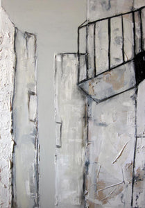 Wall 2 by Marilina Marchica - graphic city view, minimalist mixed-media