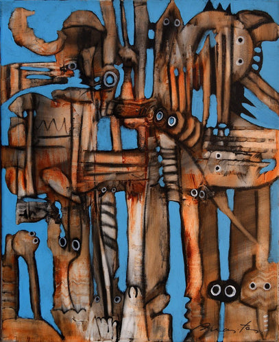 Observers by Rolando Duartes, Painting at Art Acacia Gallery & Advisory