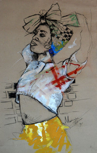 Women's Identity I by Mwamba Chikwemba, Drawing at Art Acacia Gallery & Advisory