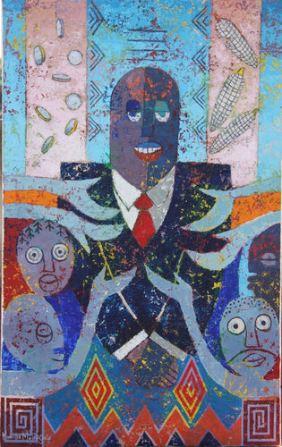 Political Strategies by Mwamba Mulangala, Painting at Art Acacia Gallery & Advisory