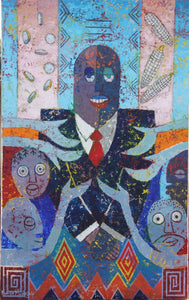 Political Strategies by Mwamba Mulangala, Mixed-media at Art Acacia Gallery & Advisory