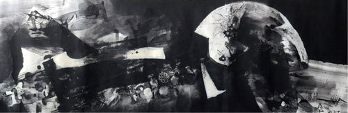 Untitled (black) Painting Liu Zijian