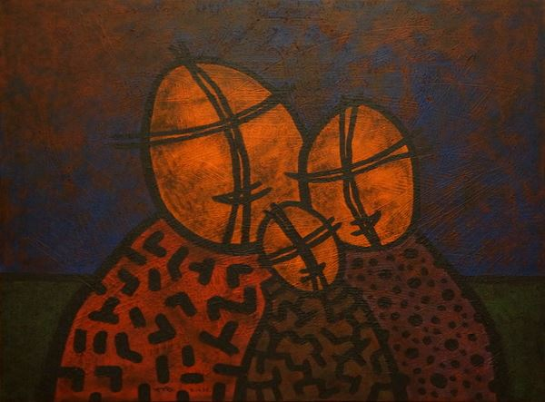 Three of Us by Yuriy Zakordonets, Painting at Art Acacia Gallery & Advisory