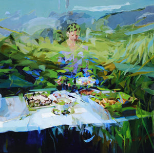 Under the Blue Sky Alone I Celebrate by Melinda Matyas, Painting at Art Acacia Gallery & Advisory