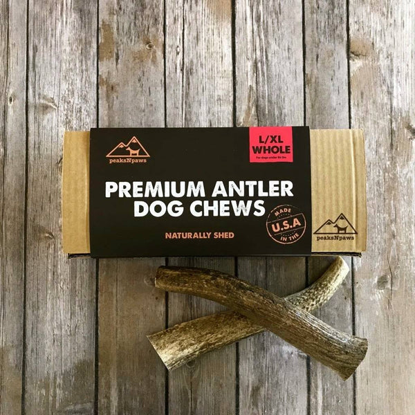 Antler Dog Chews - Natural Grade A Whole Elk Antlers - Large (2 chews)