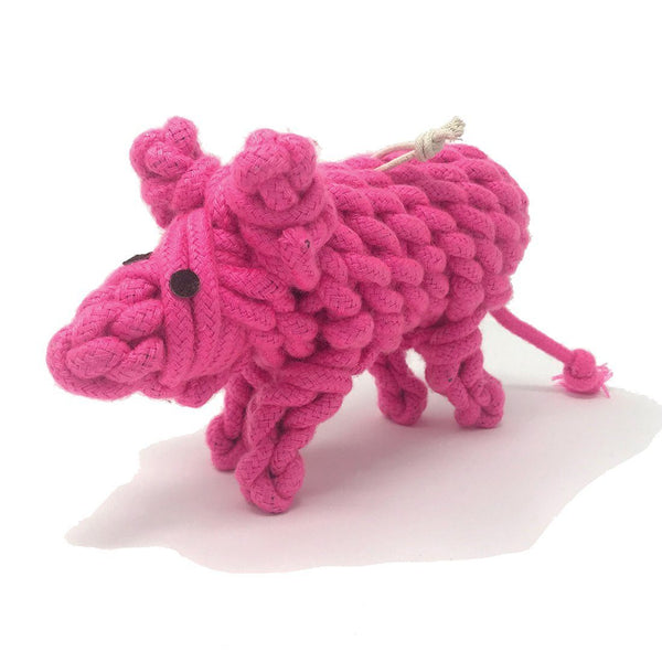 Pink Dog Toy Front