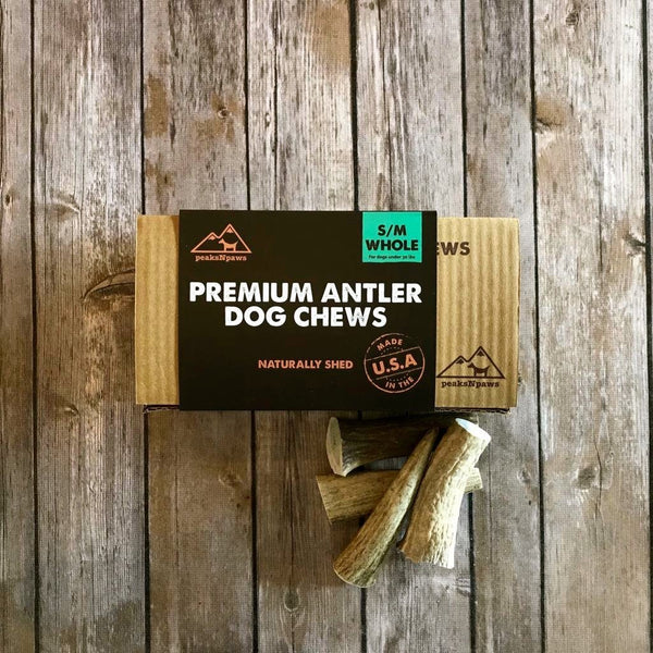 Antler Dog Chews - Natural Grade A Whole Elk Antlers - Small (4 chews)