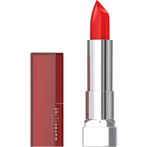 Maybelline New York Color Sensational Red Lipstick, Satin Lipstick, On Fire Red, 0.15 Ounce, 1 Count
