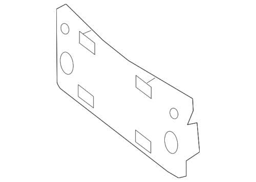 Mercedes Benz Genuine License Bracket 253-885-01-81